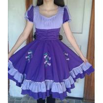Vestido De Cueca (morado) + Falso