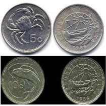 02 Moedas De Malta 5 E 10 Cents Datas Variadas