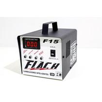 Flach Carregador Bateria Carro Moto Som Barco Caminhão F15