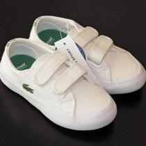Zapatillas Lacoste Niños/as Originales Nuevas C/caja Y Bolsa
