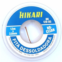 Malha Fita Dessoldadora Hikari 3,0mm Noclean Removedor Solda