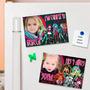 Monster High Souvenirs Imantados Cumpleaños Con Foto X 10 U.