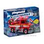 Camion De Bomberos Playmobil Grande + 2 Muñecos + Accesorios