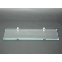 Prateleira De Vidro Porta Shampoo 40x10 Incolor