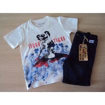 Conjunto Tigor T Tigre Camiseta/bermuda T.4