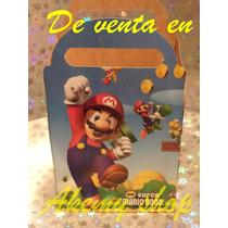 Mario Bross 30 Cajitas Articulos De Fiesta