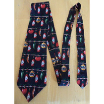 Corbata Negra Estampado Chiles Y Salsa Tabasco Corb19