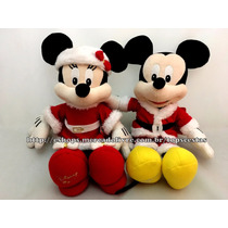 Pelúcias Mickey E Minnie Natal Originais Long Jump Disney