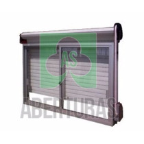 Ventana Aluminio Blanco 150x150 C/guia Y Cortina Vidrio 4mm