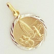 Medalha Ouro18k Pingente Nossa Senhora De Fátima Ft Gratis