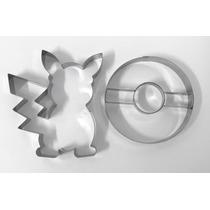 Jogo Cortador De Biscoito Pokemon Go Com 2 Peças