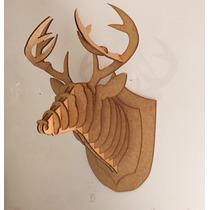 Cabeça Alce Cervo Empalhado Réplica Feita Em Mdf Alse