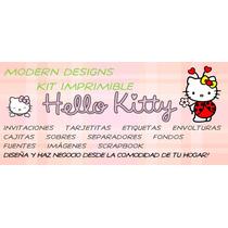 Kit Imprimible Hello Kitty Catarina Adornos Invitaciones Y+