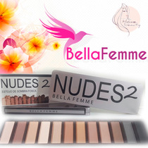 Estojo De Sombra Fosca - Nudes 2 Neutras - Naked Urban Decay