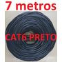 Cabo Rede Cat6 Preto 7m Metros Internet Net Lan Utp Montado