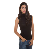 Blusa Reeb Sm Negra Cuello Tortuga Saints Clothes