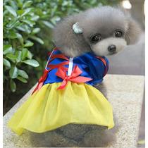 Ropa Perrita Vestido Disfraz Blanca Nievez Mascota Gato