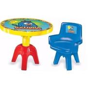 Conjunto Mesa Com Cadeira Galinha Pintadinha Ref 2007 Lider