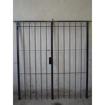 Puerta Reja De Abrir 180x200 Con Marco Y Cerradura