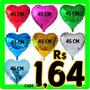 Balão Metalizado Coração Cores 45cm