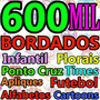 600 Mil Bordados Em P E S - Brother Bernina Dvd Ou Download