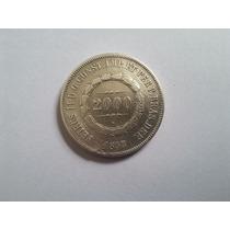 Brasil Moeda Prata 2000 Reis 1853 Brasil Império - Veja Foto