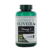 Omega 3 Oleo De Peixe 1000 Mg-sidney Oliveira 240 Pague 180