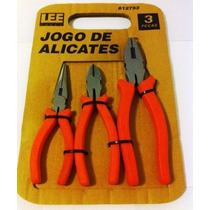 Jogo De Alicates Com 3 Pecas Isolado Aço Anatômico Lee Tools