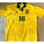 Camisa Brasil Usada Jogo 1993 Autografada 15 Jogadores