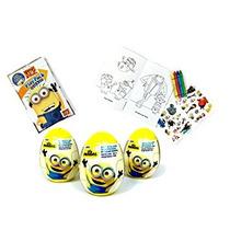 Juguete 3 Minions Plástico Sorpresa Huevos Y 1 Grab