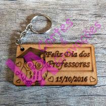 Lembrança Dia Dos Professores Chaveiros Mdf Crú 20 Unidades