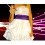 Vestido Blanco Corto - Ideal Cumpleaños De 15