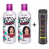 Zup Escova Progressiva G Hair Help 2x500ml + Vip Tom Plex