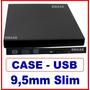 Cdvd Case Para Cd/dvd Blu-ray Sata 9,5mm Externo Usb 2.0