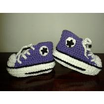 Botitas / Escarpines Crochet Bebe De 3 A 6 Meses En Caja!!