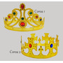 12 Coroa Rei Rainha Festa Fantasia Infantil Adulto Cosplay