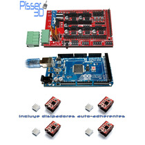 Kit Impresora Arduino Mega 2560 Ramps 1.4 A4988 X4 Pisser 3d