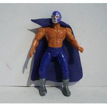 Blue Demon - Luchador De Plastico - Muñeco Lucha Libre