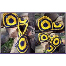 Pantuflas De Lana En Crochet, Con Suela. Boca River