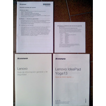 Manual Caja Lenono Ultrabook Yoga 13 Ideapad