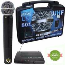 Microfone Leson Sem Fio De Mão Modelo U H F Ls-801 Original
