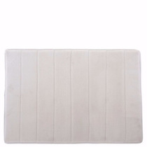 Tapete De Baño Mem/foam Color Blanco Mediano Namaro Design