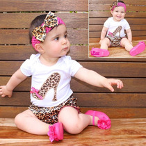 Baby Bloomer,pañalero Y Bandita Animal Print,minnie,corazon,