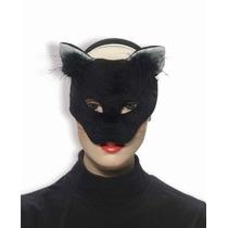 Foro Novedades Deluxe Plush Negro Gato Animal Media Máscara