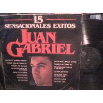 Disco Lp De Acetato Juan Gabriel 15 Sensacionales Exitos