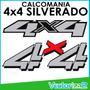 Calcomania 4x4 Silverado Color Original Plateado Marca 3m