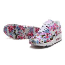 Zapatillas Mujer Nike Air Max 90 Floreadas Originales