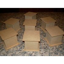 Cajas De Fibrofacil 6x6x6 Con Base , El Pack (10 Unidades)