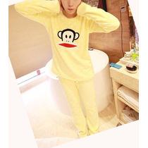 Pijama Invierno Mujer Importada, Pijama 2 Piezas Conjunto
