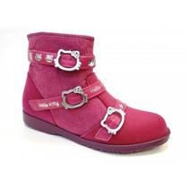 Bota Hello Kitty Diva Rock 20995 Grendene - Roxo/rosa/prata